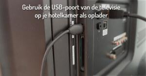 gebruik de USB poort van je televisie als oplader