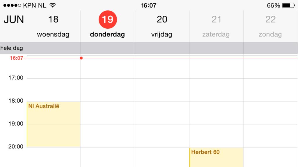 gedetailleerde weergave kalender ios