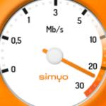 Simyo internetsnelheid meter