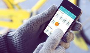 Touchscreen met speciale handschoenen