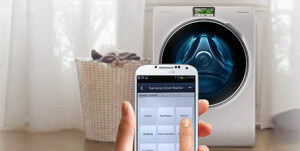 wasmachine besturen met telefoon