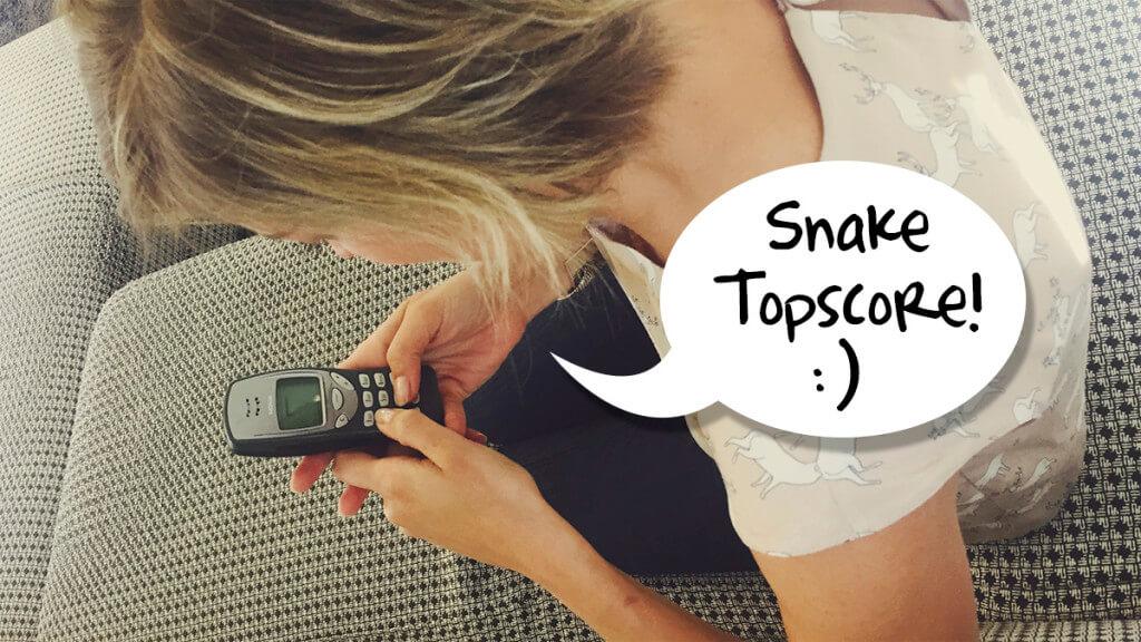 Snake topscore! Nokia 3210 voor een week