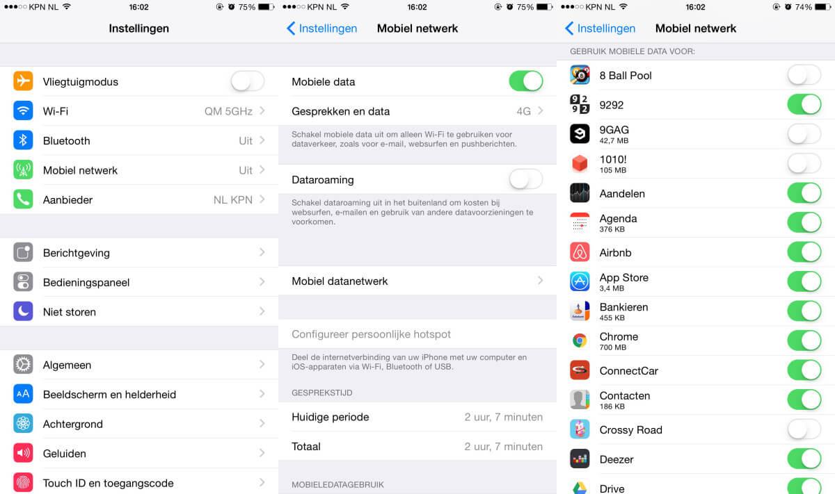 Data iOS