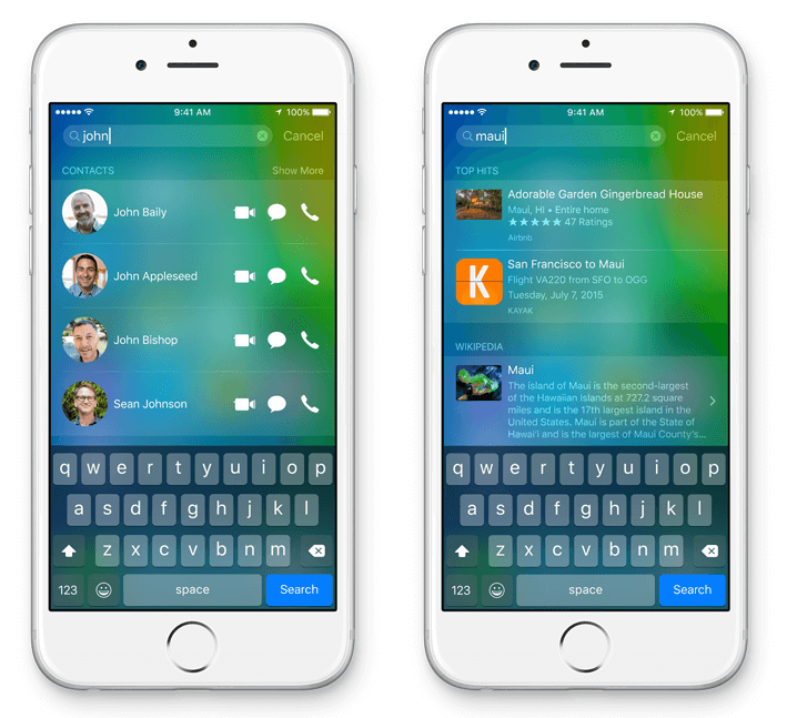 iOS 9 brein van je iPhone
