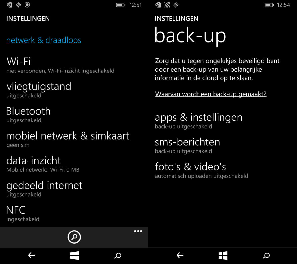Windows Phone backup