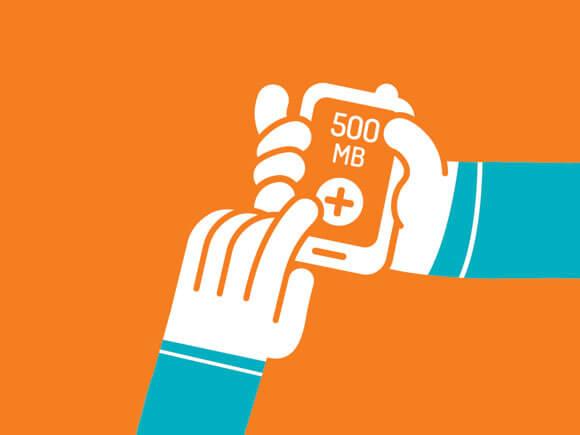 Simyo visual MB's bijkopen internetbundel op