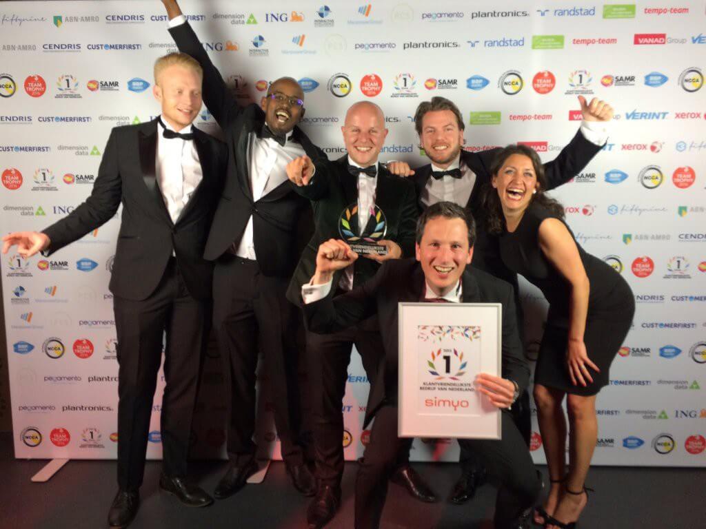 Simyo klantvriendelijkste bedrijf van Nederland 2015