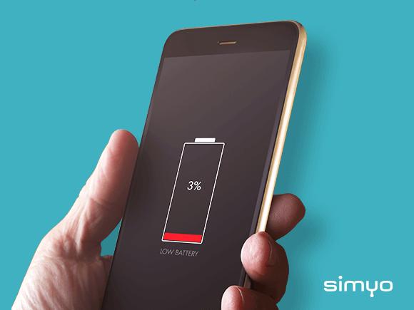 Simyo smartphone snel opladen