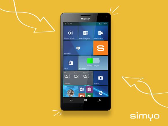 Simyo Sim Only voordelen van Windows Phone