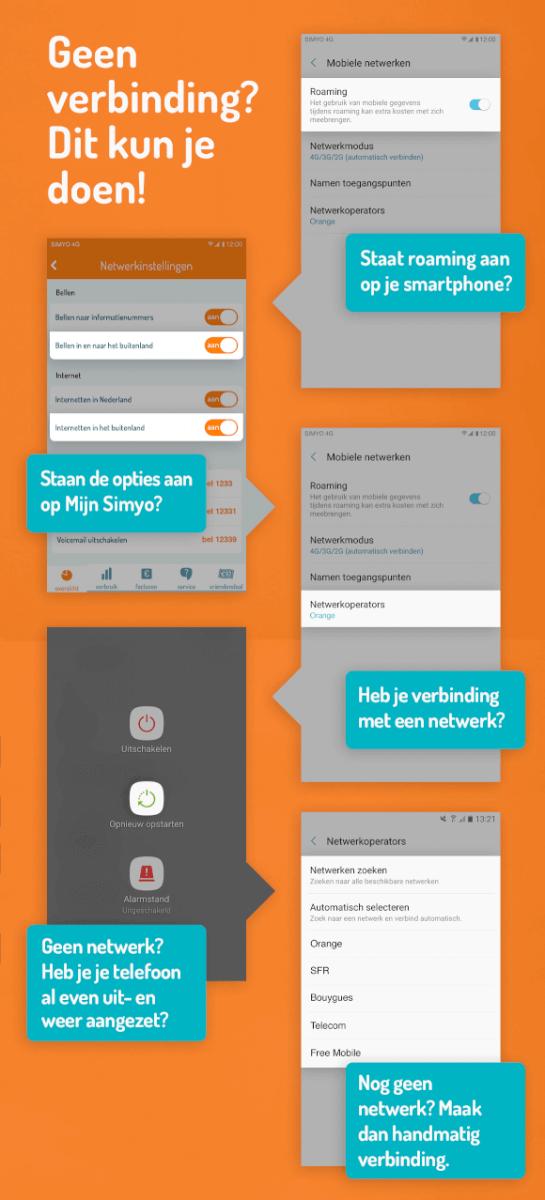 Simyo bellen en internetten in het buitenland checklist