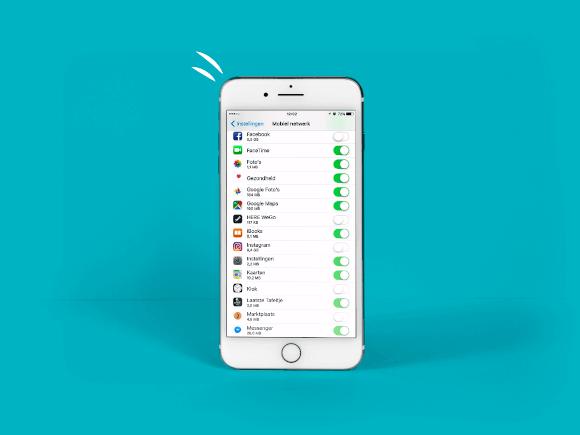 MB dataverbruik - iOS