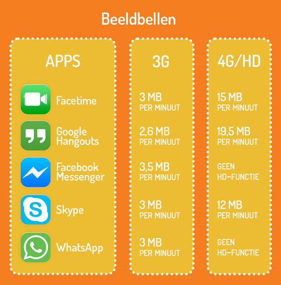 FaceTime beeldbellen infographic