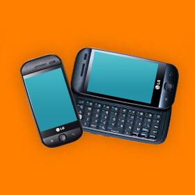 LG GW620 eerste android telefoon lg sim only simyo