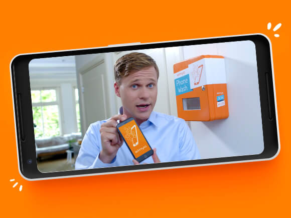 Simyo Introduceert De Phone Wash Doe Mee En Win Simyo Blog