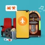 offline muziek luisteren offline films kijken