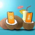 weer apps stranddag