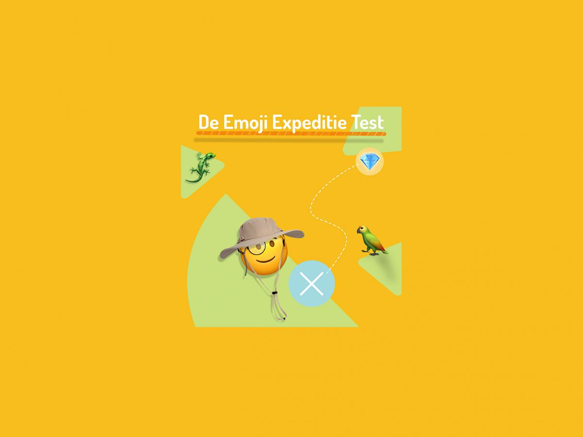 Gele gezichten, fruitsoorten én harten in alle kleuren. De emoji's. Weet jij wat ze betekenen? Start de test en ga op Emoji Expeditie